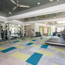 24-hour fitness center, with cutting-edge equipment